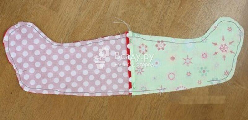 Делаем рождественский носок для подарков своими руками