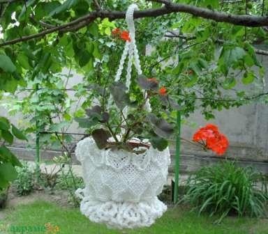 Кашпо для сада своими руками из подручных материалов
