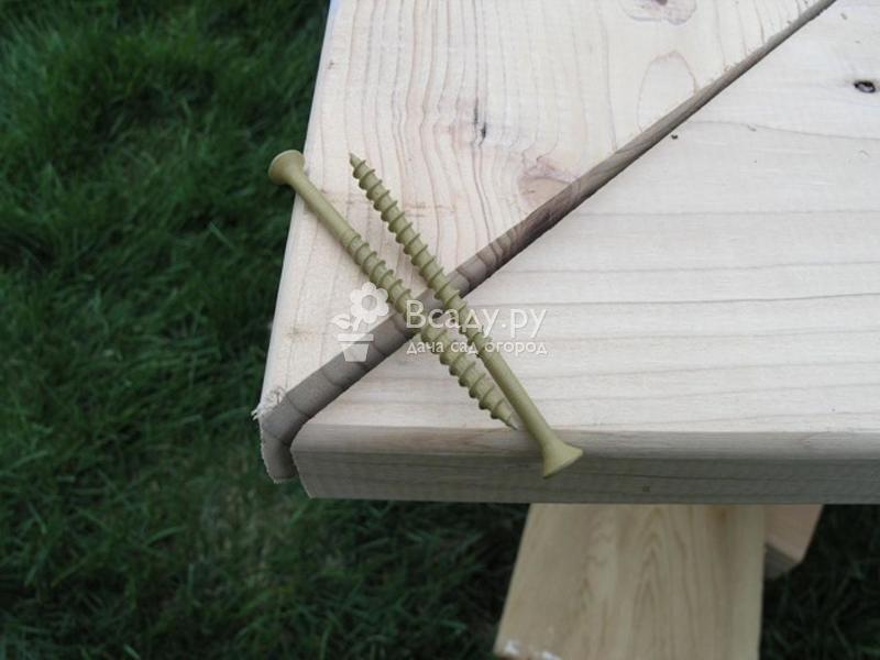 Делаем песочницу на даче для малышей своими руками