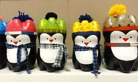 Животные из пластмассовых бутылок