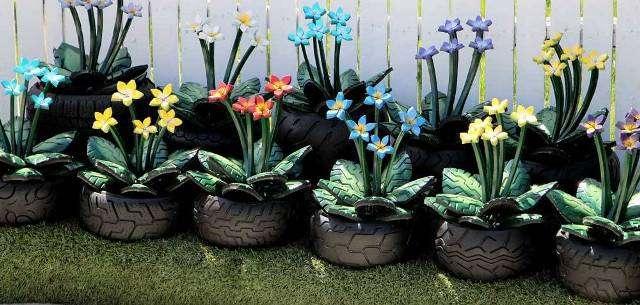 Поделки из шин своими руками для сада и огорода, картинки поделок