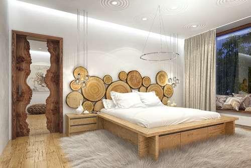 Как использовать спилы дерева для декора дома