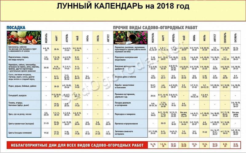 Лунный календарь на 2018 год. Фазы Луны 2018.