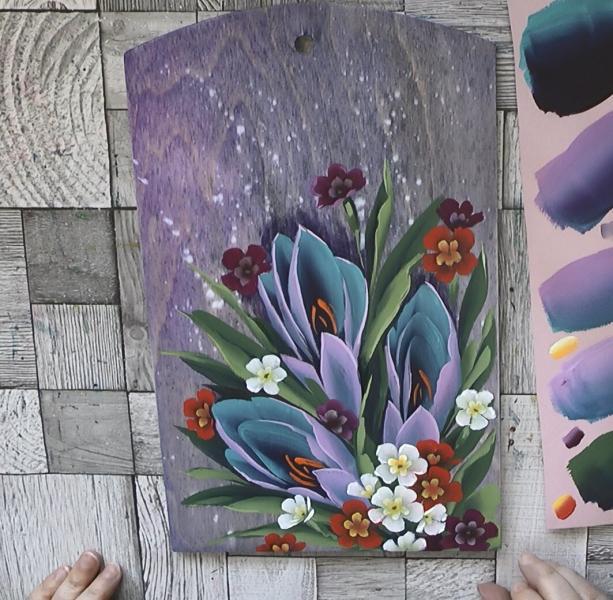 Рисуем весенние цветы: нарциссы, крокусы и примулы