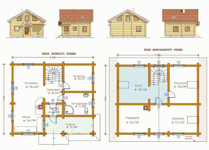 Составление проекта деревянного дома