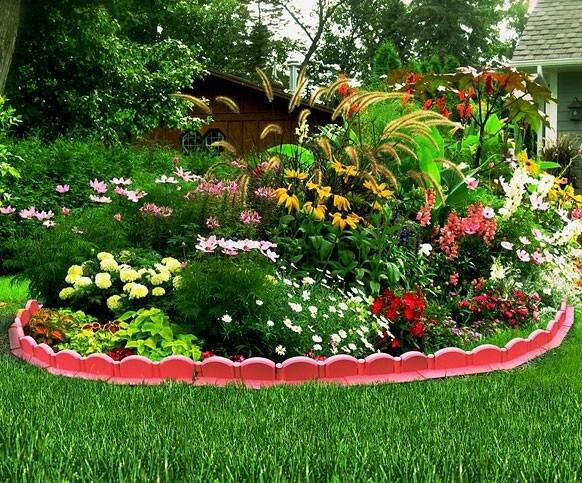Вечный вопрос садоводов - как отделить клумбу от газона?