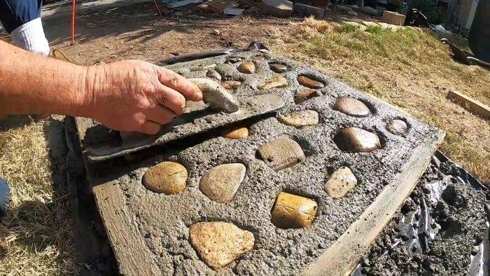 Как сделать бетонную тротуарную плитку для сада с видом брусчатки
