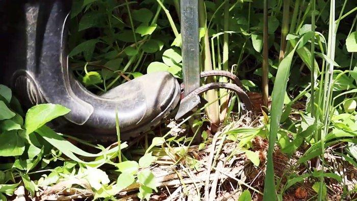 Как сделать инструмент для легкого удаления больших сорняков