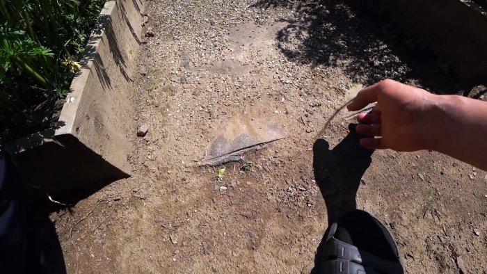 Как сделать копеечные дорожки между грядками без травы