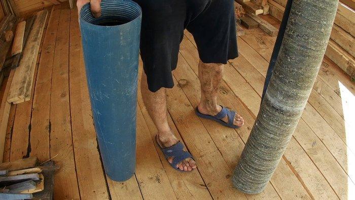 Копеечная опалубка для столбчатого фундамента
