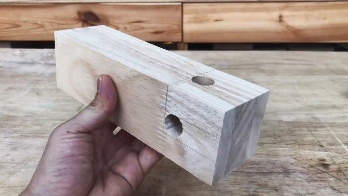 Сложное столярное соединение простым способом