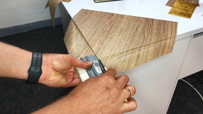 Как наклеить изоленту на углы и края мебели