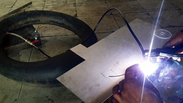 Как выполнить сварку TIG с помощью обычного инвертора и использовать автомобильную камеру как цилиндр